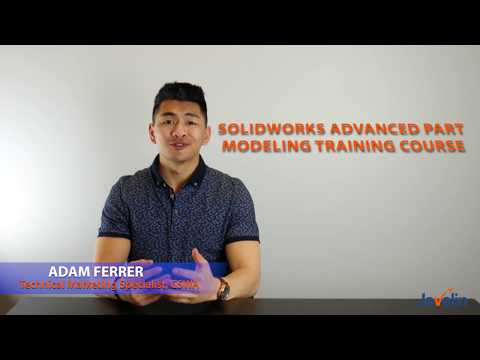SOLIDWORKS Advanced Part Modeling Training Course - YouTube