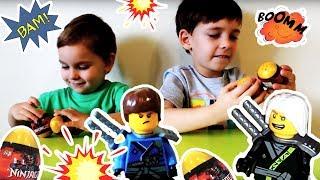 Открываем яйца с сюрпризами герои Лего Ниндзяго Lego Ninjago Яйца JLB Surprise Eggs