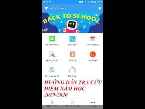 Hướng dẫn tra điểm năm học 2019-2020 - Qua App vnEdu connect