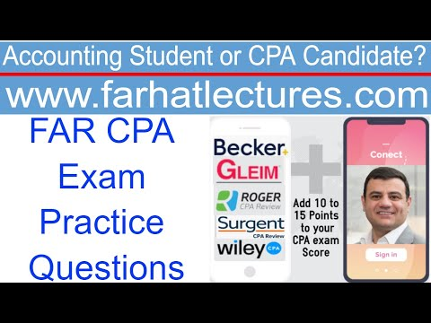 FAR CPA Exam Practice Questions How to eliminate 2 choices ...