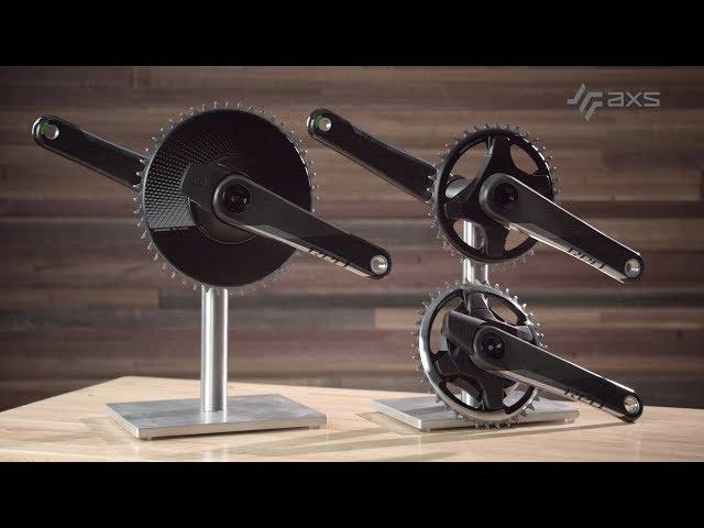 Видео Шатуны Sram Red 1 D1 AXS Aero Crankset, 24mm GXP, 48T, 172.5mm, 12 Speed черные