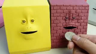 キモイ顔の貯金箱「FACEBANK」動作ムービー