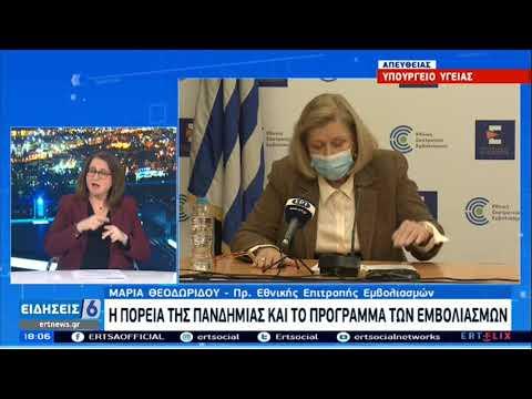 Θεοδωρίδου: Απαραίτητη η τήρηση των μέτρων και για όσους έχουν εμβολιαστεί ΕΡΤ 01/03/2021
