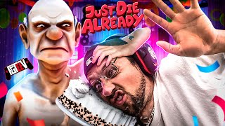 The SAVAGE GRANDPA! Just Die Already, Enough is Enough! (FGTeeV Hilarious Weird Haha Game)