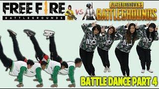BATTLE DANCE FREE FIRE VS PUBG PART 4 - IKAN ASIN - TAKUPAZ DANCE CREW