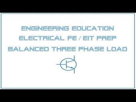 Electrical FE /EIT Exam Prep - Power 1: Balanced Three Phase ...
