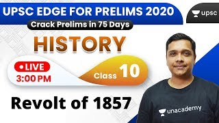 UPSC EDGE for Prelims 2020 | History by Pareek Sir | Revolt of 1857