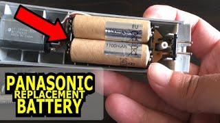 Panasonic hair trimmer battery replacement - Akku tauschen - pimp my trimmer