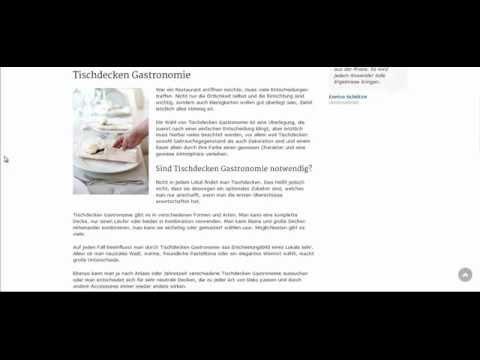 Tischdecken Gastronomie sind nützlich und verleihen Flair