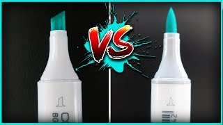 Chisel Tip VS Brush Tip ~ Copic Marker Art Challenge (drawing with all my copics)