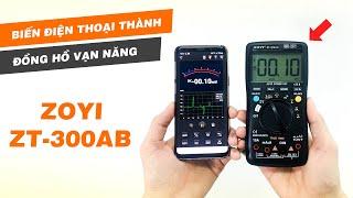 Biến điện thoại thành ĐỒNG HỒ ĐA NĂNG với ZOYI ZT-300AB