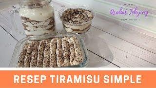 Cara Membuat Tiramisu Simple No Baked