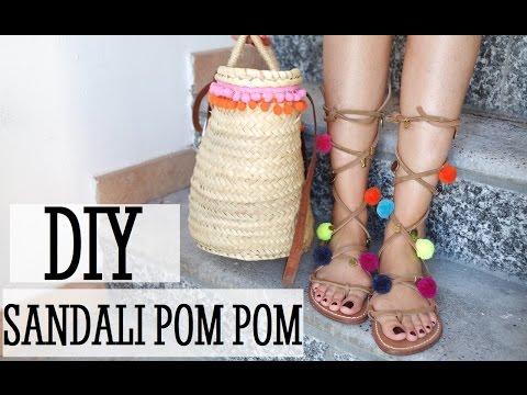 DIY | Sandali Pom Pom