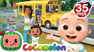 Wheels On The Bus (School Edition)  + More Nursery Rhymes & Kids Songs - CoComelon