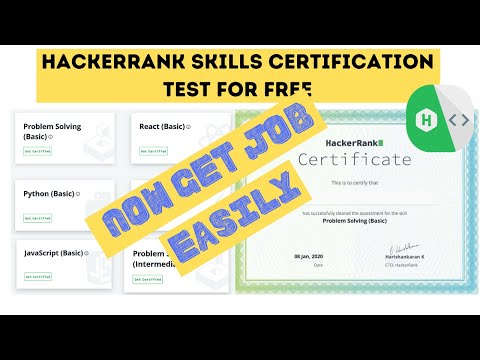 HackerRank Skills Certification Test For Free   Now Become ...