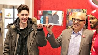 [DAY 28 FINALE] I Waited an ENTIRE MONTH to be FIRST to Get a Nintendo Switch!