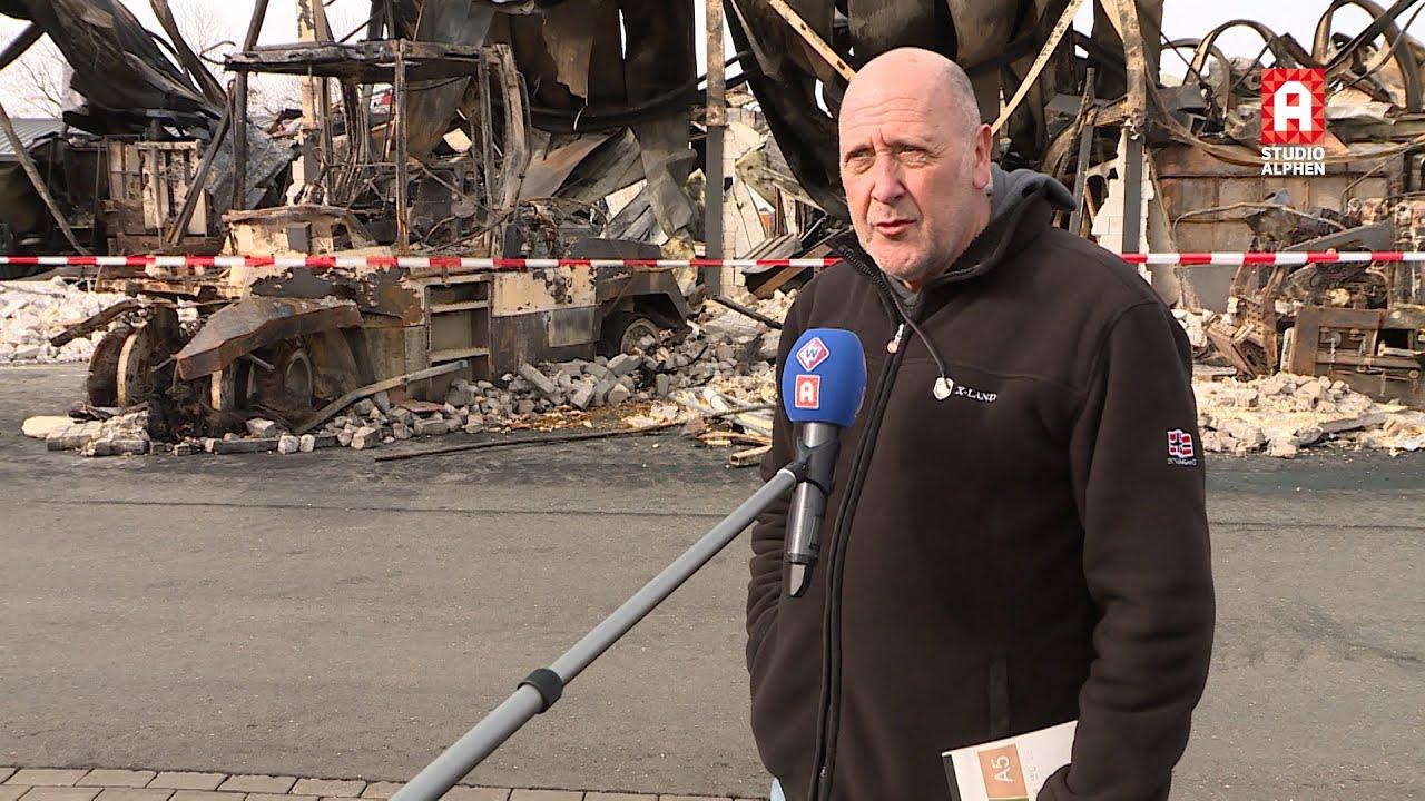 Enorme ravage na zeer grote brand Vermeulen Groep, voor miljoenen euro's schade