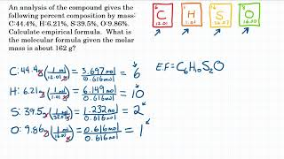 Calculate Molecular Formula From Empirical - Practice - 2