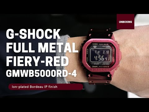 Casio G-Shock Full Metal Red GMWB5000RD-4