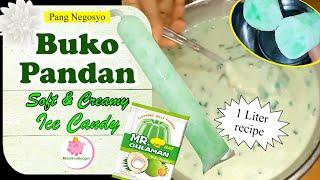 BUKO PANDAN ICE CANDY - Soft & Creamy (1 Liter recipe) 2020 ❤️ MissOnaBudget