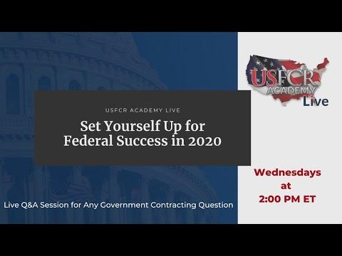 USFCR Academy Live | USFCR Academy Live | Set Yourself Up for Federal Success