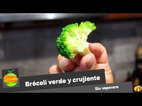 ¿Cómo cocer el Brócoli sin vaporera para que quede verde radiante y crujiente?