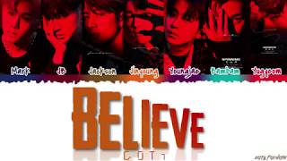 GOT7 (갓세븐)   'BELIEVE' Lyrics [Color Coded_Han_Rom_Eng]