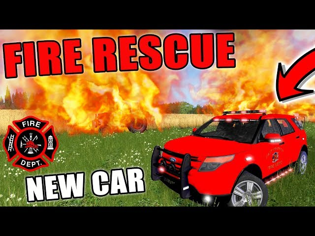 NEW RESCUE VEHICLE | FIRE RESCUE | EMERGENCY 911 | FARMING SIMULATOR 2017