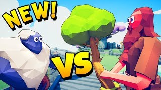 TABS - ICE GIANT vs TREE GIANT, Dragon, Sensei! - Totally Accurate Battle Simulator New Secret Units