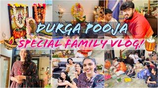 Durga Pooja Special Vlog!?|Family Pooja special for new Beginnings|Ganesh Pooja & Lakshmi Pooja 🙏||