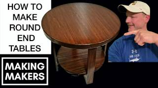 Easy DIY Round End Table
