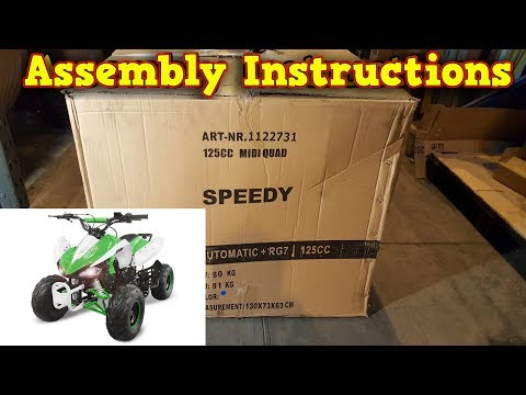 Quad 125 / 110cc - Unboxing - Full Assembly - Instructions-speedy-video