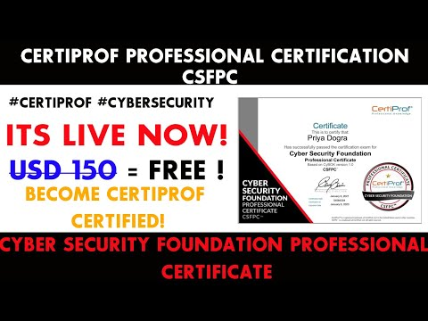 Cyber Security Free Certificate | Certiprof Cybersecurity Professional ...