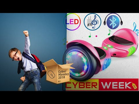 TOMOLOO Hoverboard With RGB Colorful Lights Bluetooth Speaker / Now On Cyber Monday 2018!