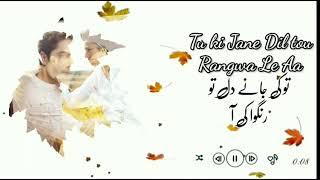Mehar Posh Ost Lyrics | Sahir ali bagga | Danish   - YouTube