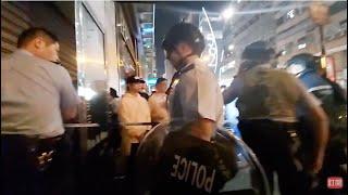 【突發直播】香港油麻地大批防暴警察突然封路