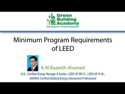 LEED Minimum Program Requirements (MPR), What is the Eligible ...