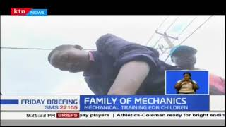 Kawangware man conducts mechanical training for children