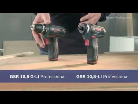 Bosch Akkubohrschrauber GSR 10,8-2-LI Professional & Akkuschrauber GSR 10,8 V-LI Professional