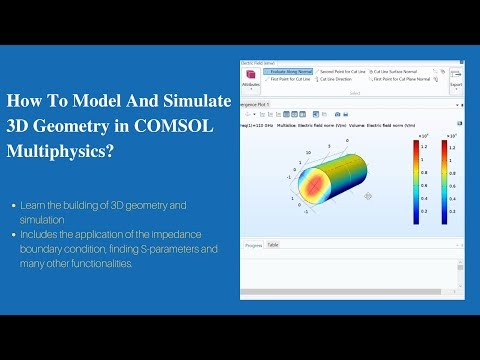 How To Model And Simulate 3D Geometry? | COMSOL Multiphysics ...