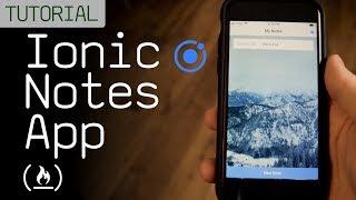 Ionic Notes App Tutorial (Mobile App Development)