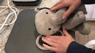 Birth Stat Stuffed Elephant Design Space File and How To With Cricut EasyPress 2
