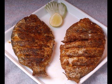 Pearl spot - karimeen fry kerala style