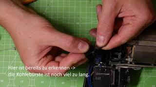 """Bohrmaschine reparieren - """"Kohlebürsten tauschen"""" (Bosch Klon PPD-500)"""
