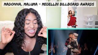 Madonna, Maluma - Medellín (Billboard Music Awards Performance) | REACTION