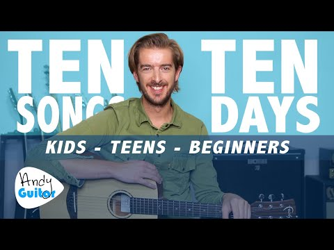 Guitar Lesson 10 for Kids - 'Don't Stop Believin' // LEARN 10 SONGS IN 10 DAYS
