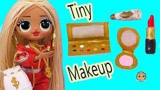 DIY Small Makeup ! Easy Do It Yourself Clay Craft  Eyeshadow Palette + Lipstick