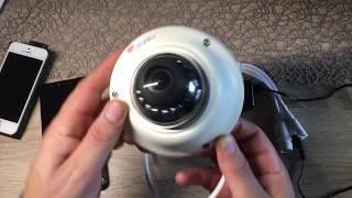 Ctronics Drahtlose Dome IP Kamera HD 720p,WiFi WLAN Kamera,Nachtsicht,Bewegungserkennung