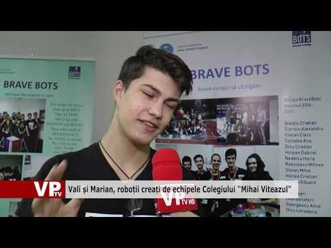 """Vali și Marian, roboții creați de echipele Colegiului """"Mihai Viteazul"""""""