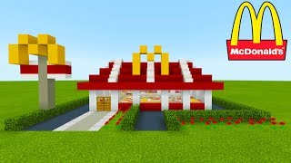Minecraft Tutorial: How To Make A McDonalds (Restaurant) 2019 City Tutorial